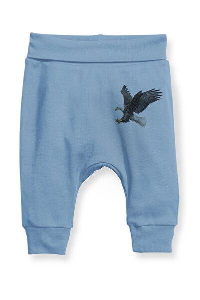 Angemiel Erkek Bebek Mavi Şahin Baskılı Şalvar Pantolon