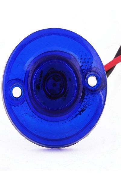 Sedef Mini Round Yuvarlak Led Lamba Tek Led Su Geçirmez 12/24 Volt Mavi 10 Adet