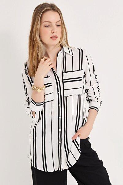 HomeStore Kadın Sıyah Gömlek 20230003072