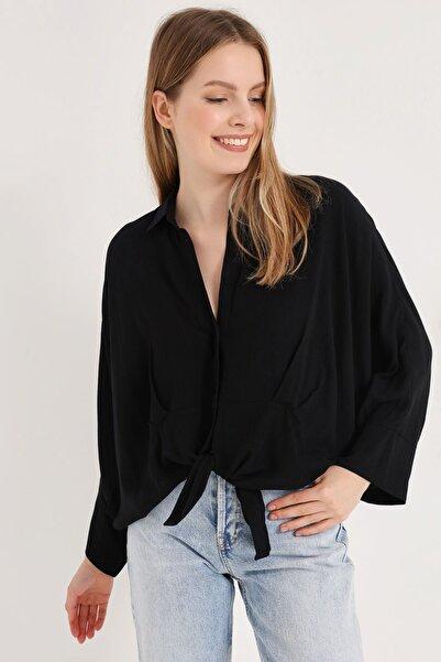 HomeStore Kadın Sıyah Gömlek 20230003077