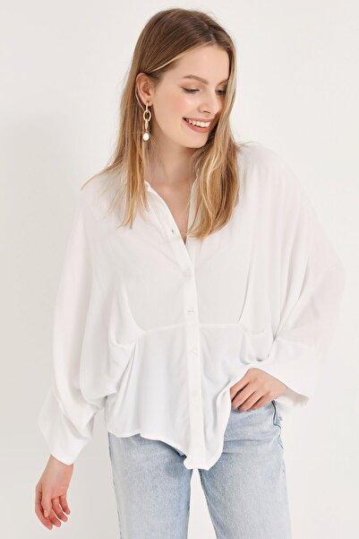 HomeStore Kadın Beyaz Gömlek 20230003077