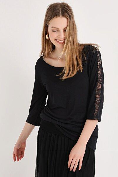 HomeStore Kadın Sıyah Bluz 20250220016