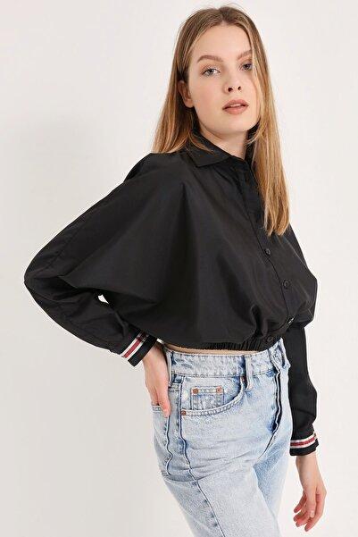 HomeStore Kadın Sıyah Gömlek 20230003049
