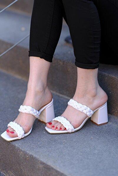 Oksit Ula Örgü Model Kadın Topuklu Ayakkabı