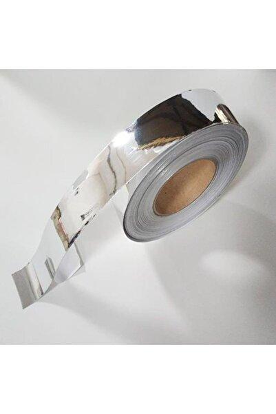 Metus Krom Nikelaj Bant Yapışkanlı Araç Çıta Direk Kaplama Folyosu 5 cm 5 Metre