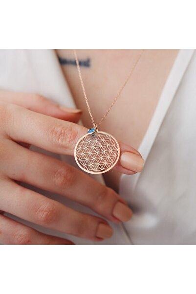 Minamis Silver 925 Ayar Gümüş Yaşam Çiçeği Gözlü Kolye