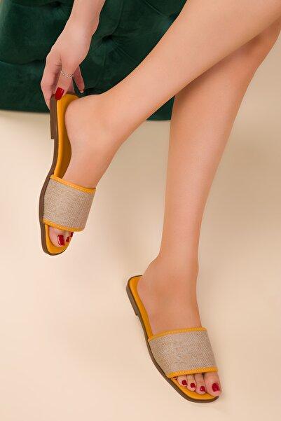 SOHO Hardal Sarı Kadın Terlik 15020
