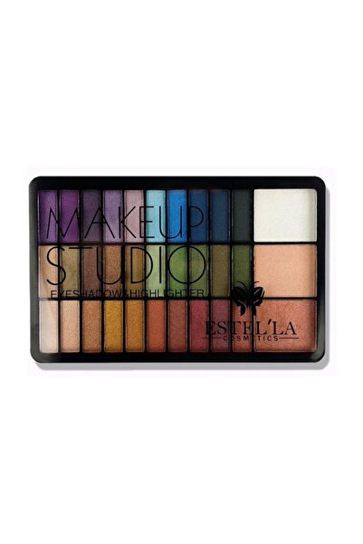 Estella Makeup Studio 33'li Set Renkli Far Paleti