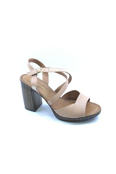 Mammamia Kadın Pudra Topuklu Sandalet