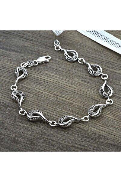 jelux silver Kadın Gümüş Kuğu Model Bileklik