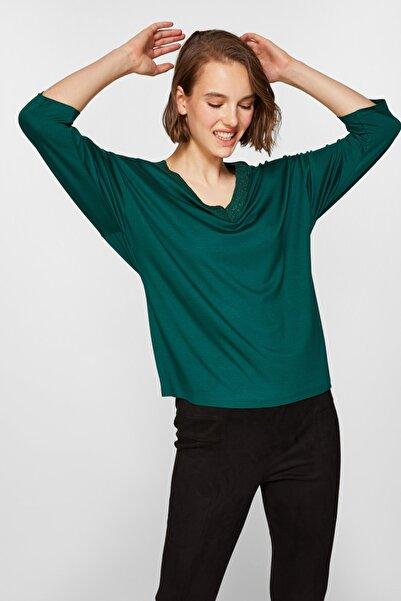 Faik Sönmez Kadın Zümrüt T-Shirt 39612 U39612