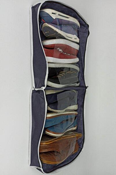 CimriKese Ayakkabı Saklama Ve Taşıma Çantası Organizeri 6 Bölme Lacivert 35x20x40
