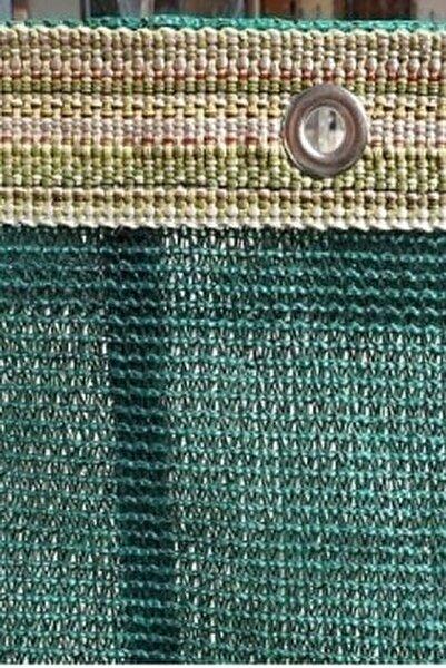 Gölgelik File 1,5x5 Mt %95 Gölgelik Kumaş Gölgeleme Çit Örtüsü Yeşil Kuşgözlü + Kolonlu