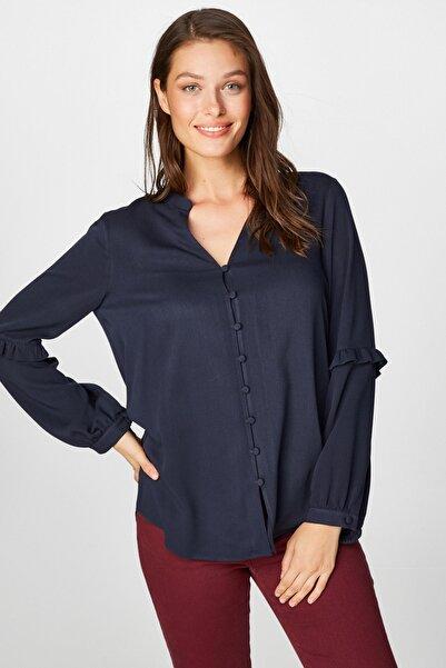 Faik Sönmez Kadın Lacivert Gömlek 39333 U39333