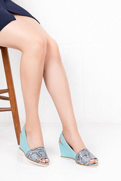 Gondol Hakiki Deri Dolgu Topuk Ayakkabı