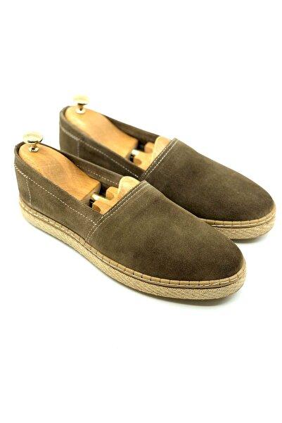 TETRİ Erkek Yeşil Hakiki Süet Klasik Ayakkabı