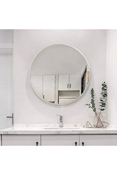 SPECCHIO Nehir 60 Cm'lik Gümüş Rengi Yuvarlak Ayna,dekoratif Ayna