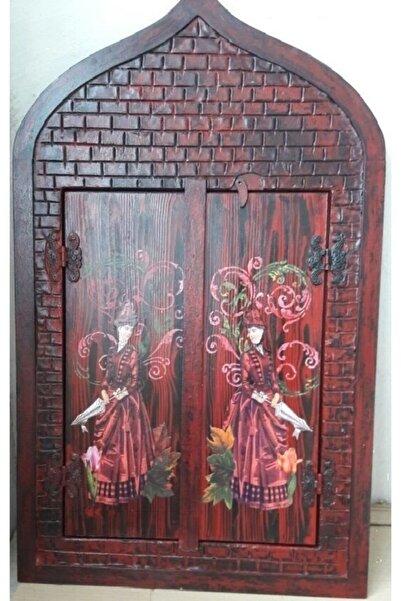 Keskin Dekoratif Masif Ahşap Pencereli Ayna