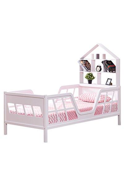 Setay Montessori Yatak, Full Mdf Pembe, Viva Montessori Karyola Kitaplıklı