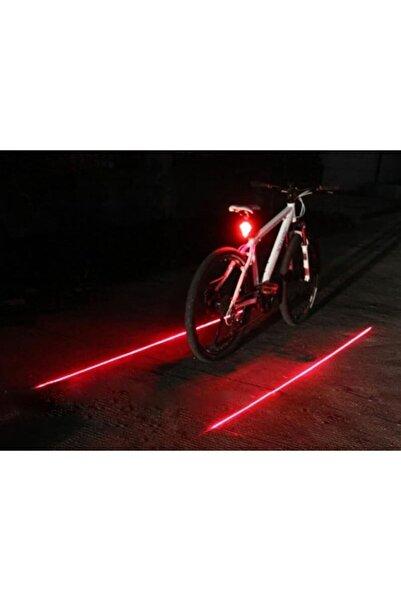 İtal Bisiklet Lazer Güvenlik Şeriti Led Stop Lambası 7 Fonksiyon 5 Led