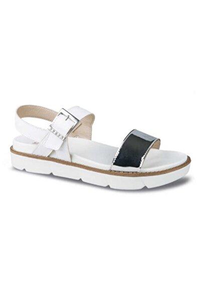 Ceyo Kadın Gümüş Renk Düz Taban Sandalet 9966