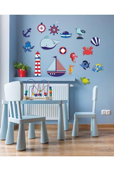 Babyroom Nautical Gemici Ahşap Set