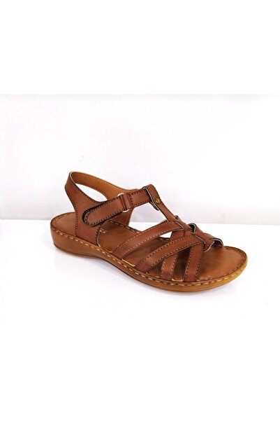 PUNTO Kadın Kahverengi Düz Taban Sandalet 561010z