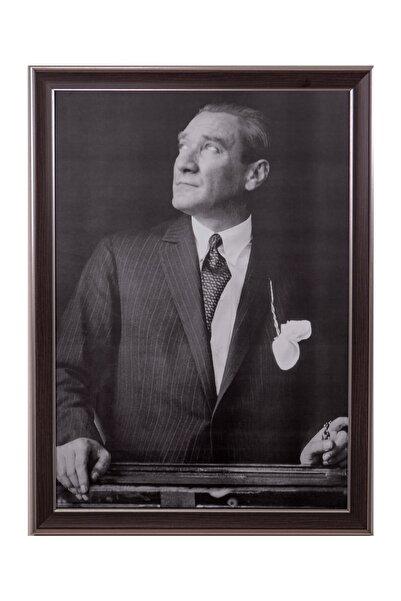 BELLARTE Kahverengi Çerçeveli Atatürk Portresi 55x75cm