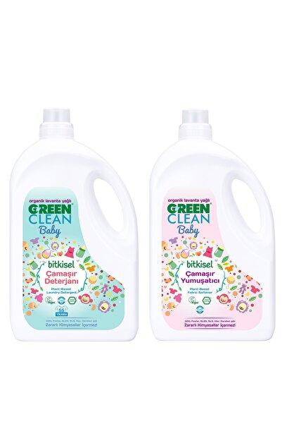 Green Clean Baby Çamaşır Deterjanı  Yumuşatıcı 2,75 lt. 2 li Set