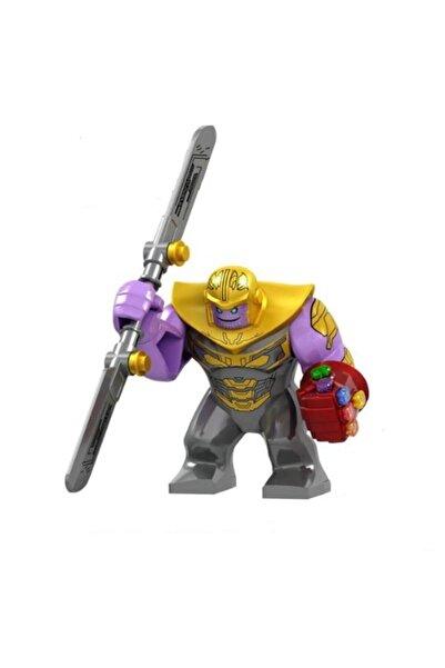 Legoedly Thanos Mini Figür Infinity War Çift Bıçaklı Büyük Kılıç + Sonsuzluk Eldiveni