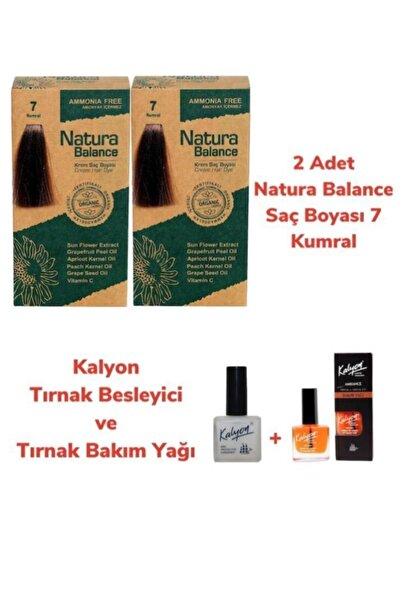 NATURABALANCE Balance Saç Boyası 7 Kumral 2 Adet + Kalyon Tırnak Besleyici Ve Bakım Yağı