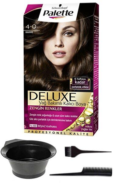 SCHWARZKOPF HAIR MASCARA Palette Deluxe 4-0 Kahve Saç Boyası ve Saç Boyama Seti