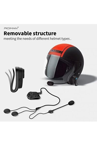 Bluetooth Motosiklet Kask Kulaklık Anti-parazit Eller Serbest Yağmur Geçirmez