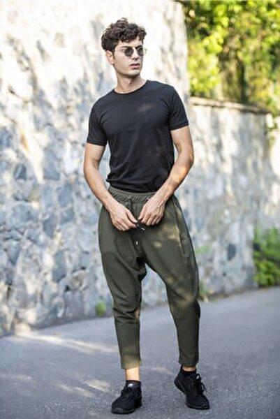 Erkek Haki Şalvar Model Pantolon