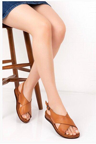 Bella Kadın Kahverengi Comfot Sandalet