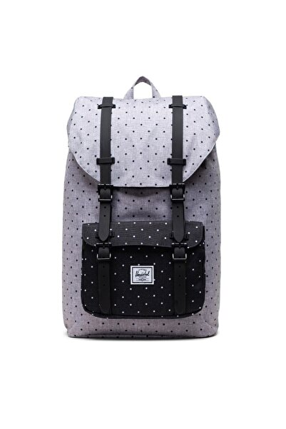 Herschel Supply Co. Herschel Little America Mid-volume Polka Dot Crosshatch Grey/black Sırt Çantası 10020-03556-os