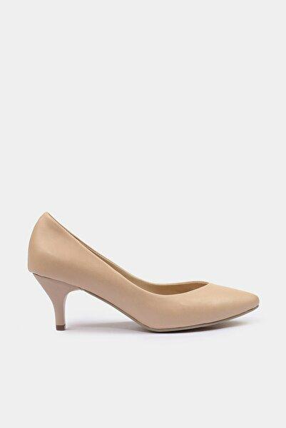 Hotiç Bej Yaya Kadın Topuklu Ayakkabı