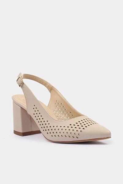 Kemik Yaya Kadın Topuklu Ayakkabı