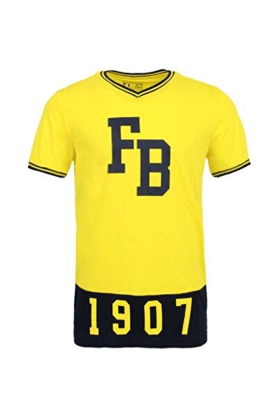Fenerbahçe Erkek Sarı Kolej 1907  Spor T-Shirt