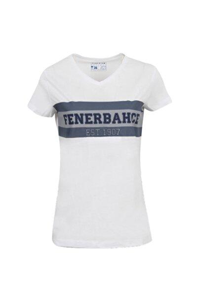 Fenerbahçe Kadın Beyaz Kolej Fb 1907 Spor T-Shirt