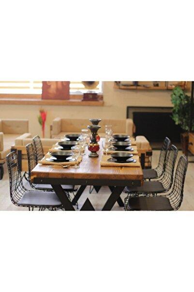 NT Concept Ntconcept Masif Ahşap Yemek Masası - 60cm-120cm Masa