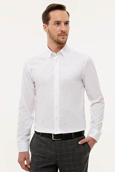 Pierre Cardin Erkek Beyaz Slim Fit Oxford Gömlek G021GL004.000.1180263