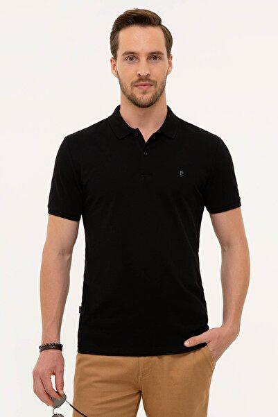 Pierre Cardin Erkek Siyah Slim Fit Polo Yaka T-Shirt