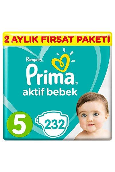 Prima Bebek Bezi Aktif Bebek 5 Beden 232 Adet Junior 2 Aylık Fırsat Paketi