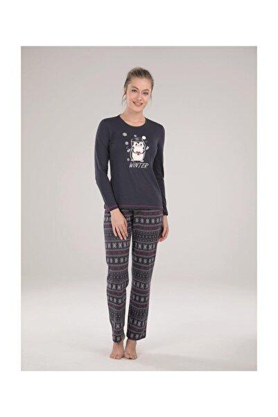 Blackspade 50029 Yuvarlak Yaka Uzun Kol Kadın Spor Pijama Takımı
