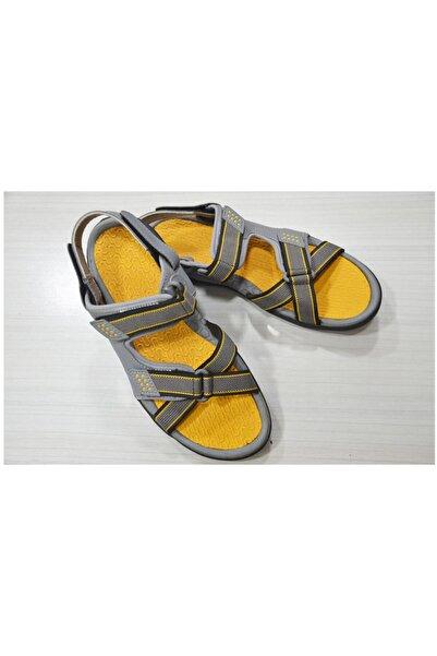Lescon Unisex Gri Spor Sandalet