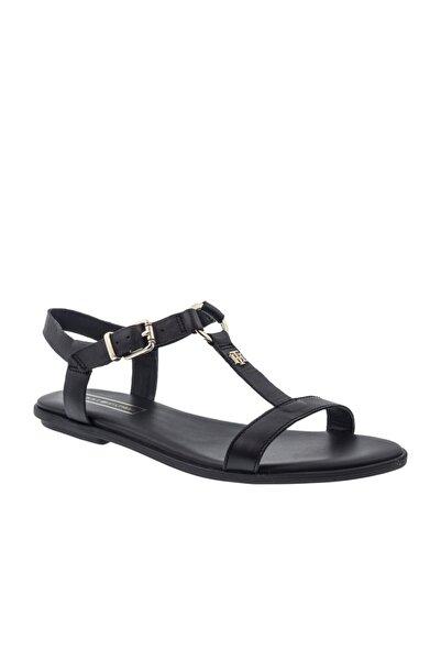 Tommy Hilfiger Kadın Siyah Düz Taban Sandalet (fw0fw0
