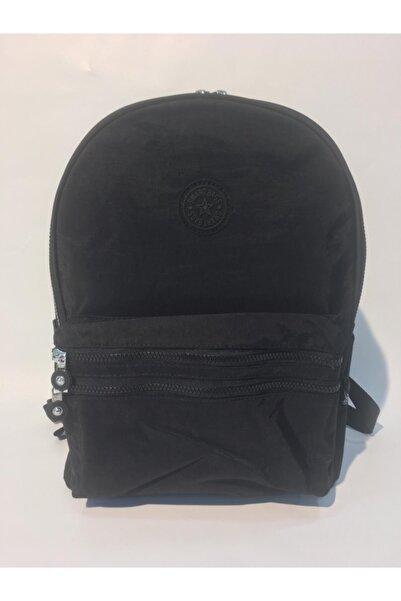 SMART BAGS Unisex Siyah Büyük Boy Krinkıl Kumaş Sırt Çantası