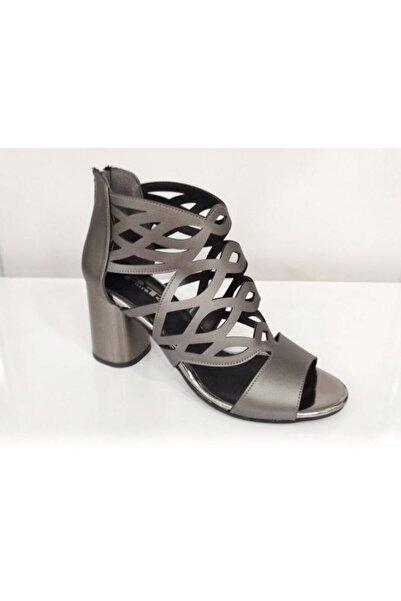 PUNTO Kadın Gri Kalın Topuklu Klasik Ayakkabı 544750z