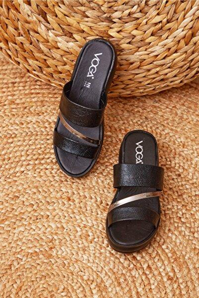 Shoes Time Kadın Siyah Bantlı 2245 Terlik
